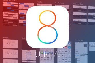 iOS 8 Vector App UI Kit