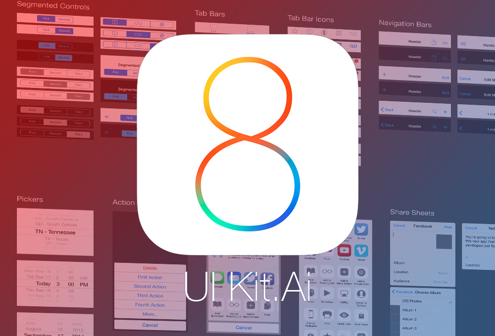 Ios 8 Vector App Ui Kit Graphicsfuel