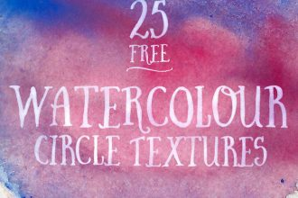 25 Free Watercolour Circle Textures