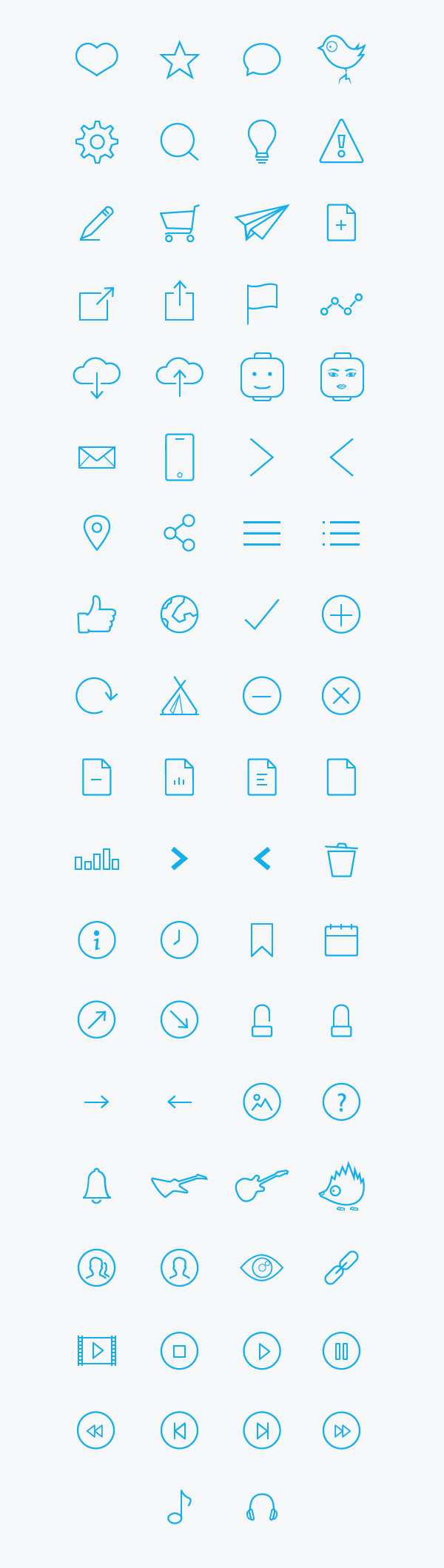 74-free-line-icons-font