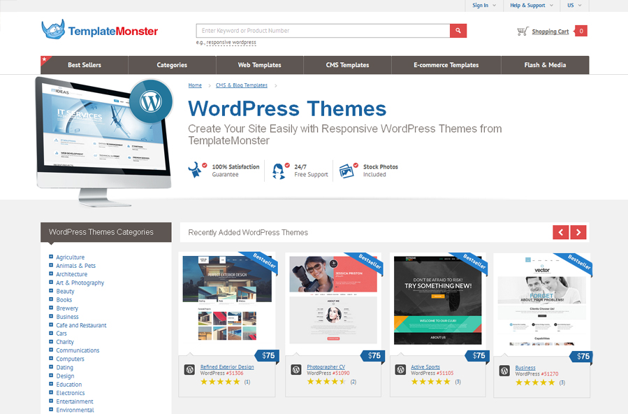 Giveaway: Win WordPress Themes from TemplateMonster - GraphicsFuel