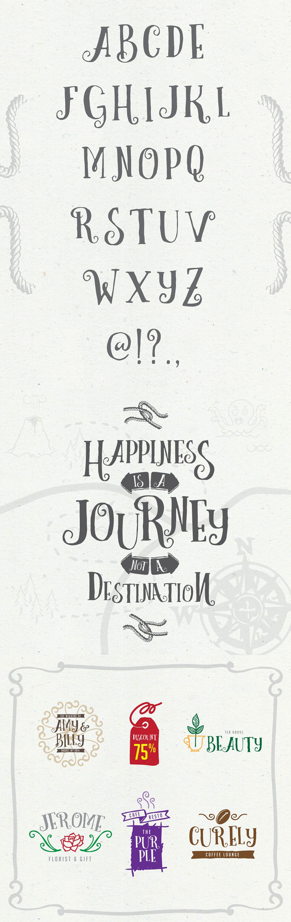 Curely Free Decorative Font