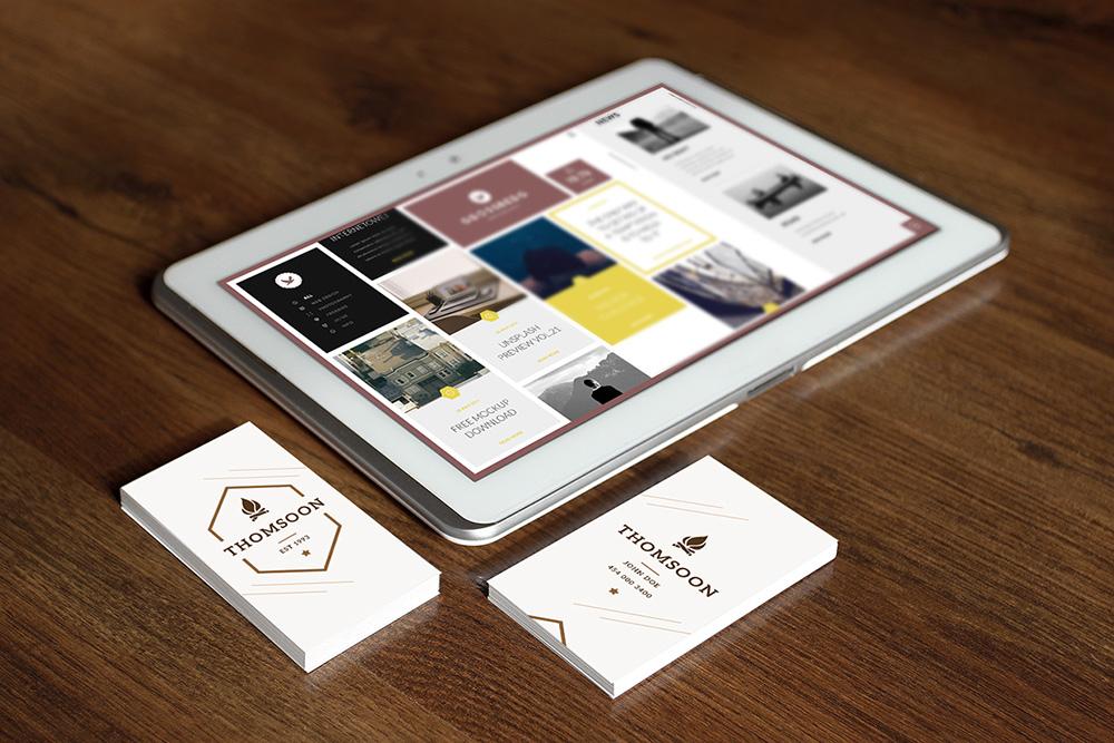 tablet-business-card-mockup