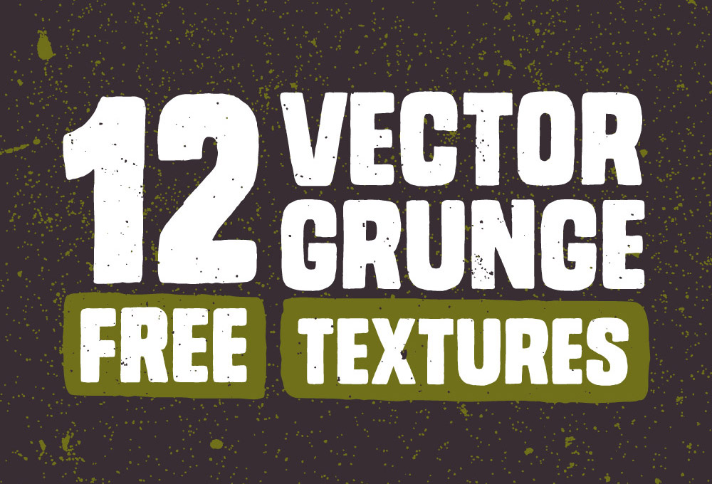 12 Free Vector Grunge Textures