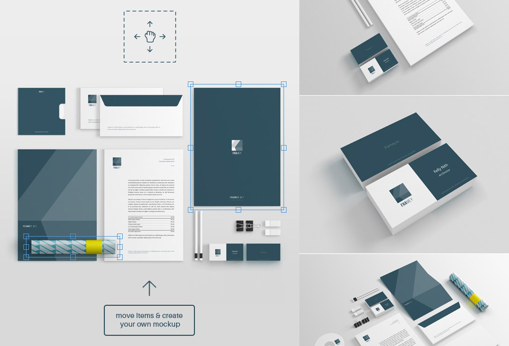 Free stationery mockup psd graphicsfuel for Stationery templates psd