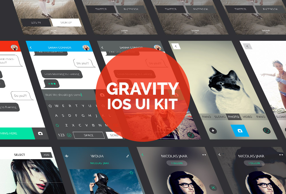 Gravity: iOS Design UI Kit