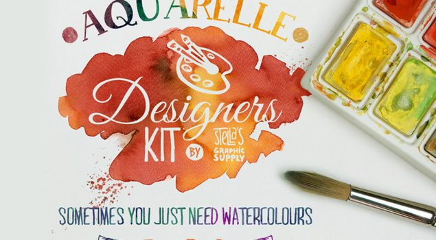 Watercolor Layer Styles and Shapes Mini Kit