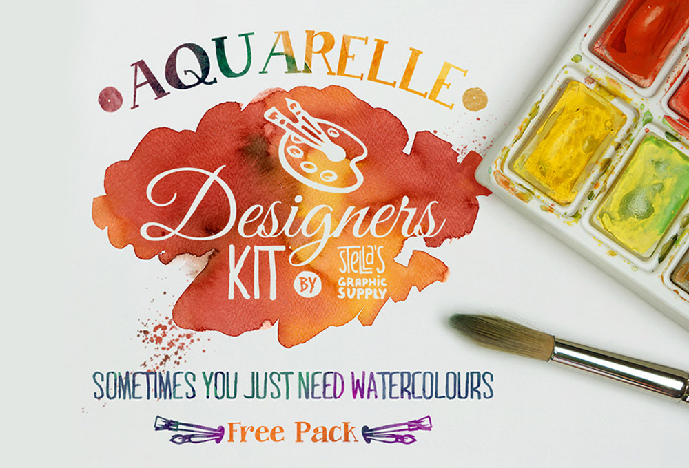 watercolors-texture-kit