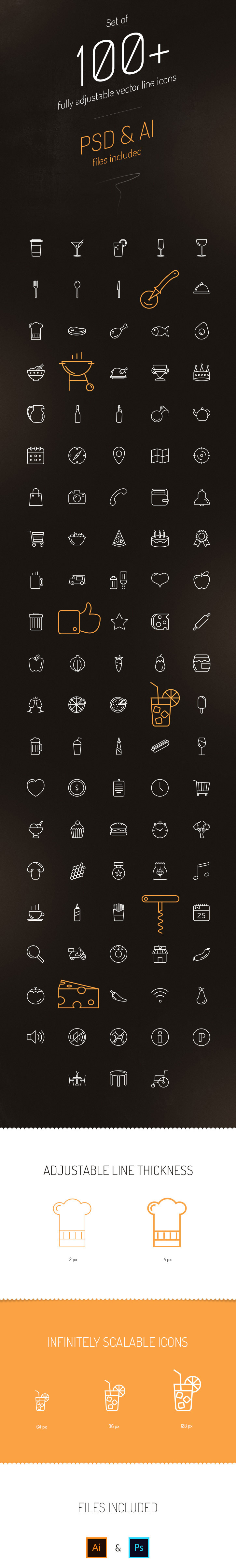100-free-line-vector-icons