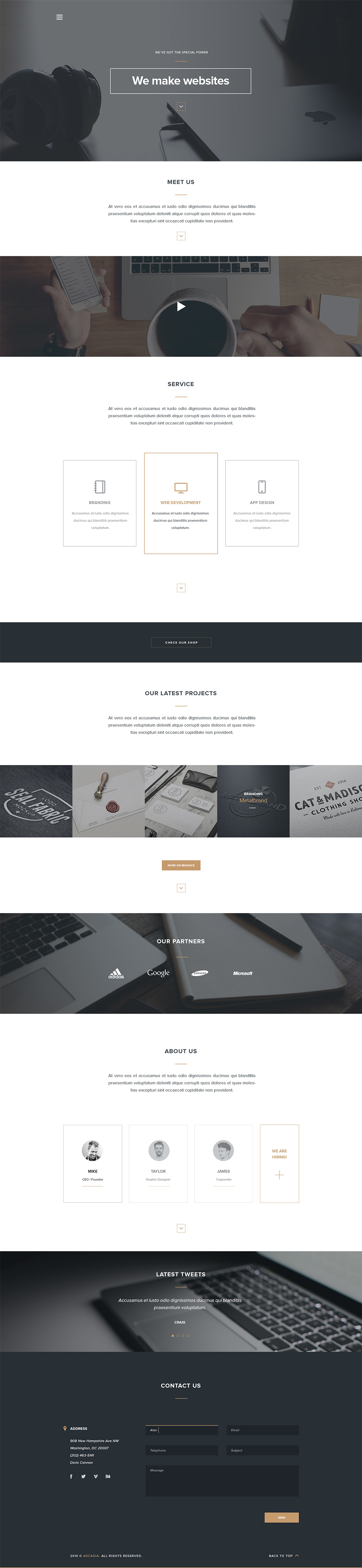 Arcadia: Free HTML Web Template - GraphicsFuel