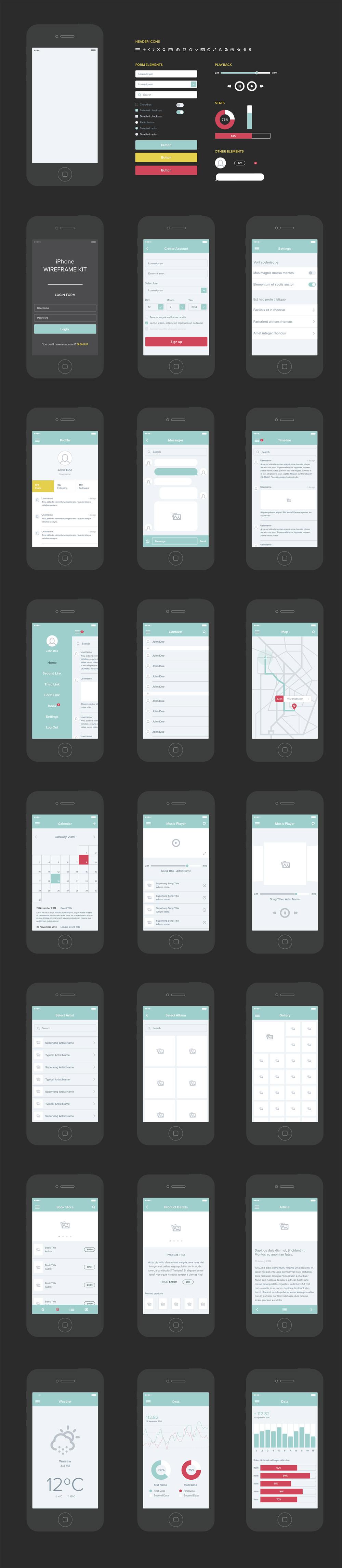 free-mobile-app-ui-kit
