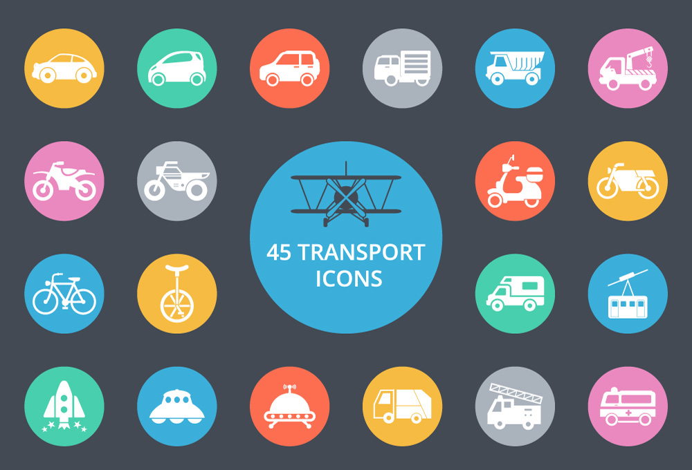 Exclusive: 45 Free Transport Icons