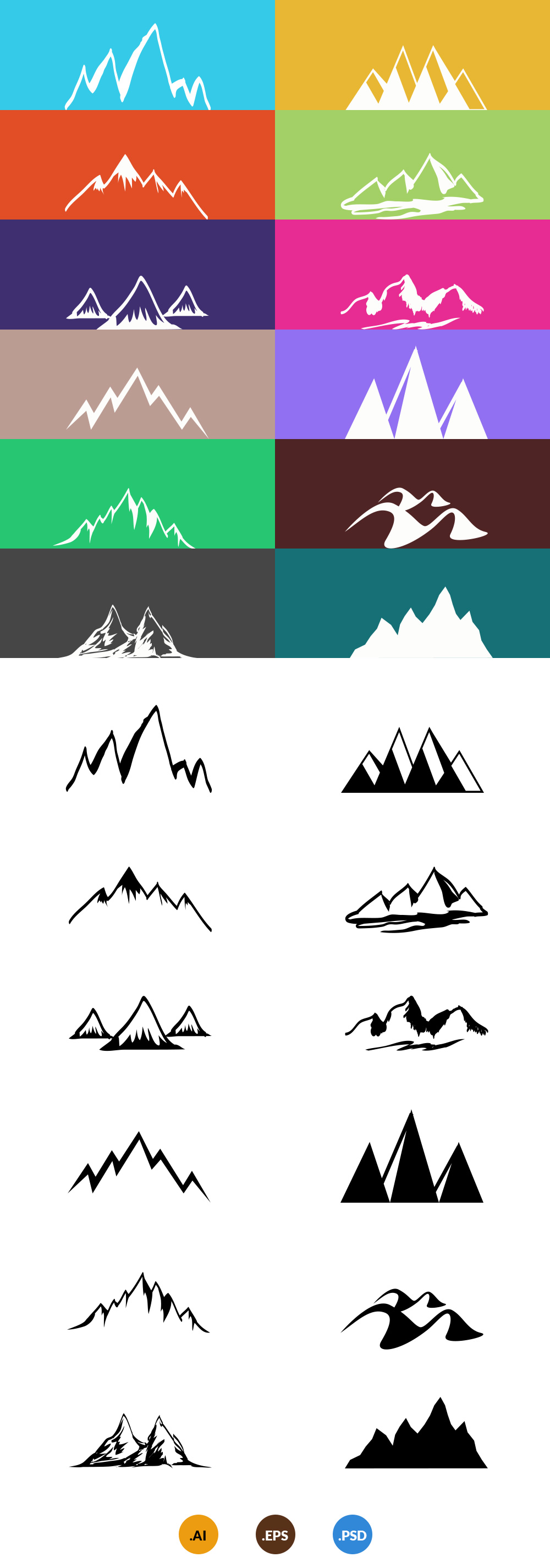 free-12-vector-mountains