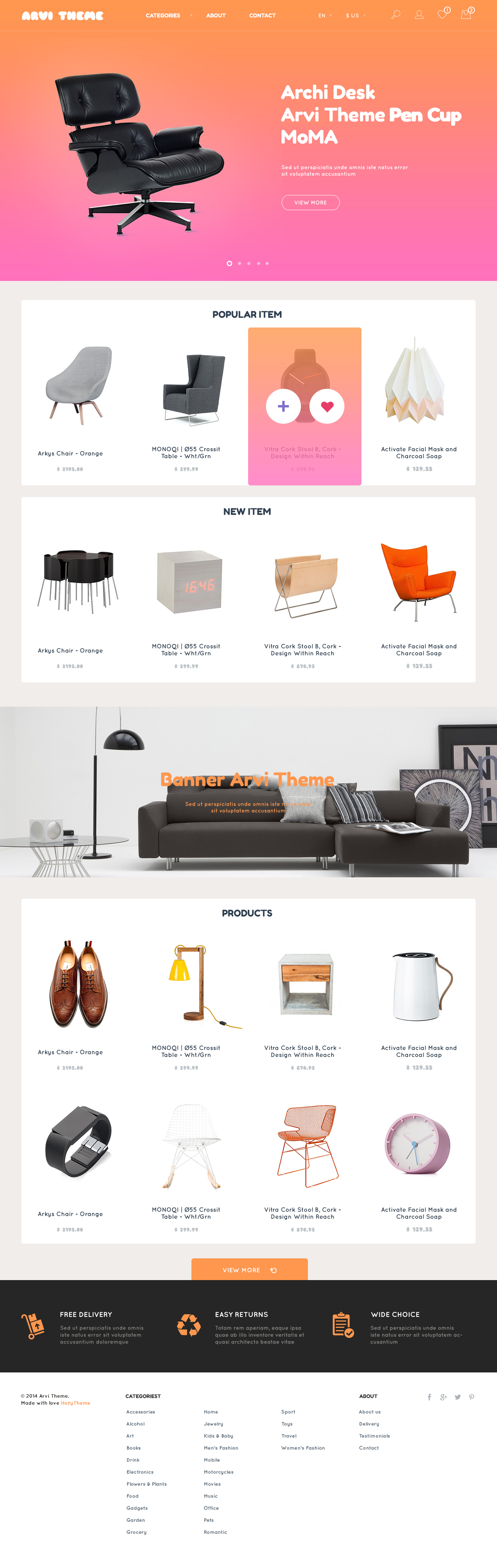 free ecommerce template - arvi free ecommerce website psd template graphicsfuel