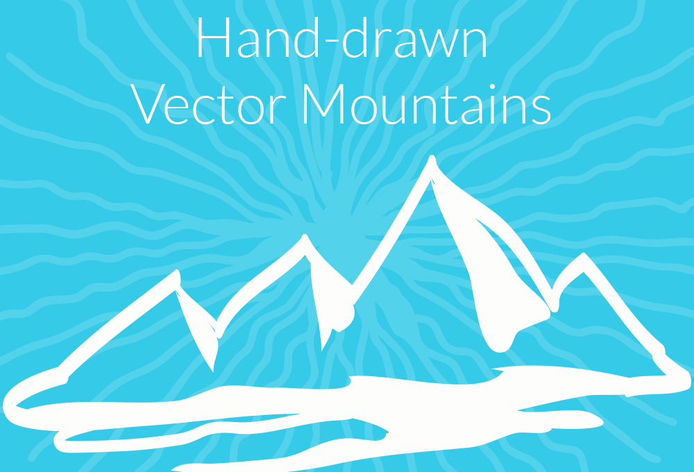 12 Free Hand-drawn Vector Mountains
