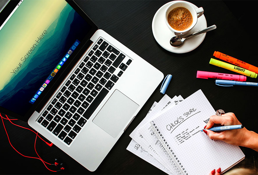 Free Macbook Pro Office Mockups