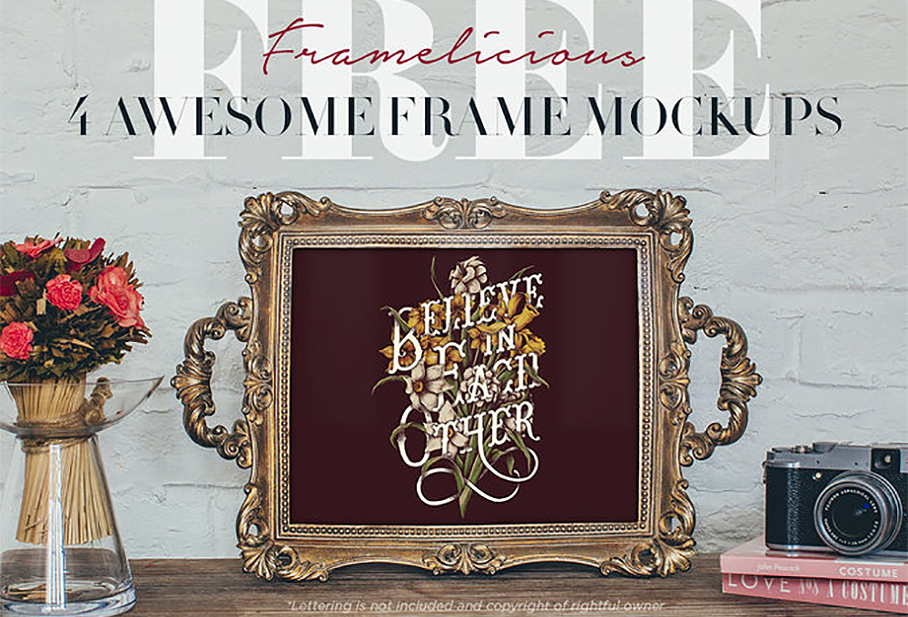 4 Free Real Photo Frame Mockups