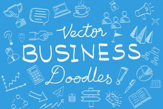 100+ Business Vector Doodle Elements