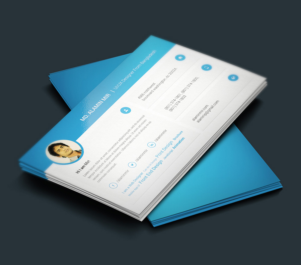 free resume and business card design