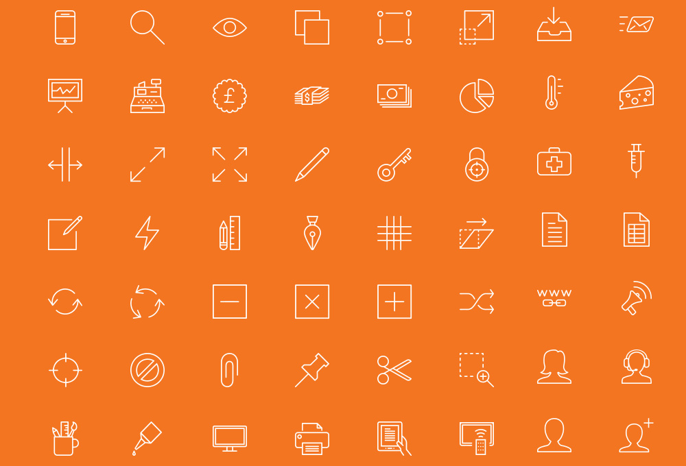 90 Free Outline Icons