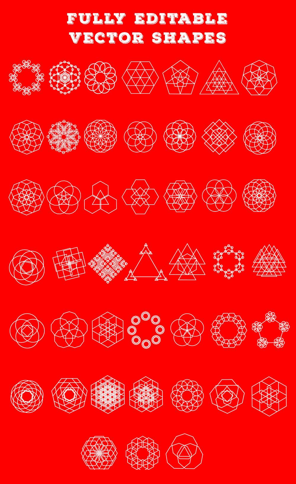 Free-Geometric-Outline-Shapes