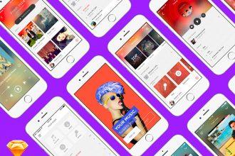Free Music App UI Kit