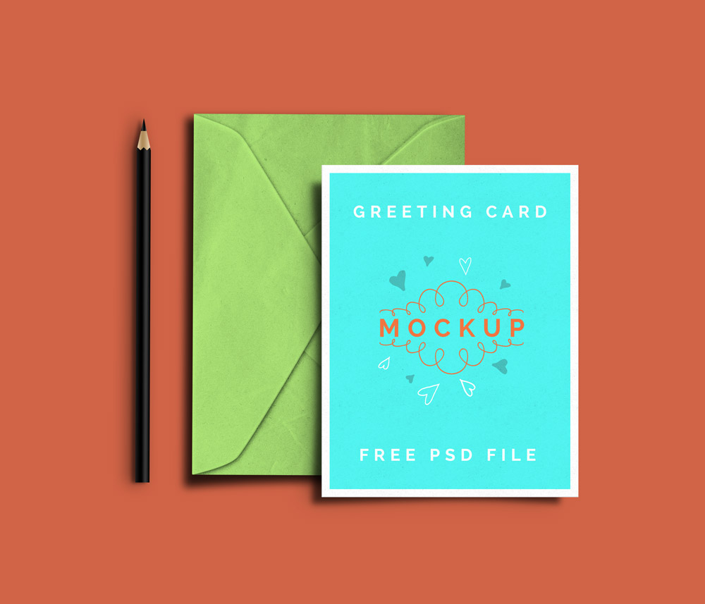 Greeting card psd mockups graphicsfuel
