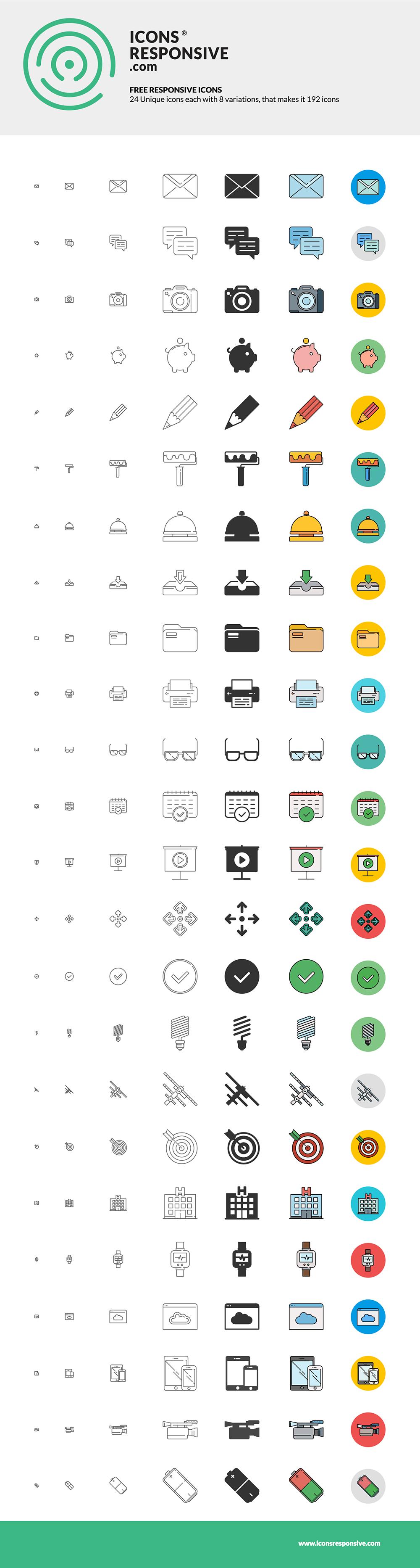 Dribble-icons-responsive-free-set