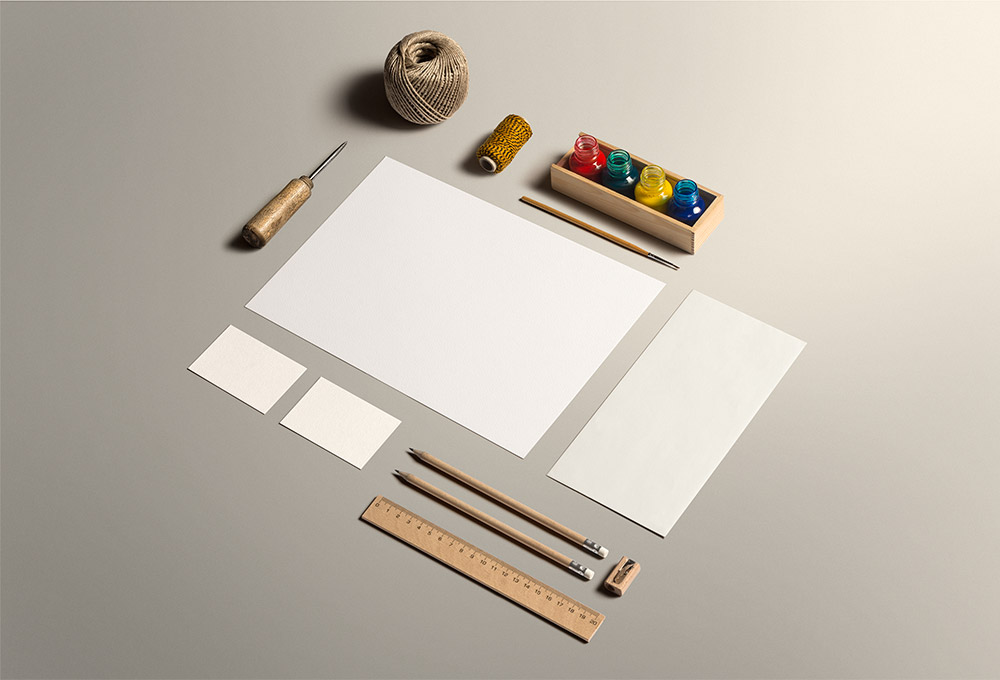 Art & Craft Stationery Mockup PSD