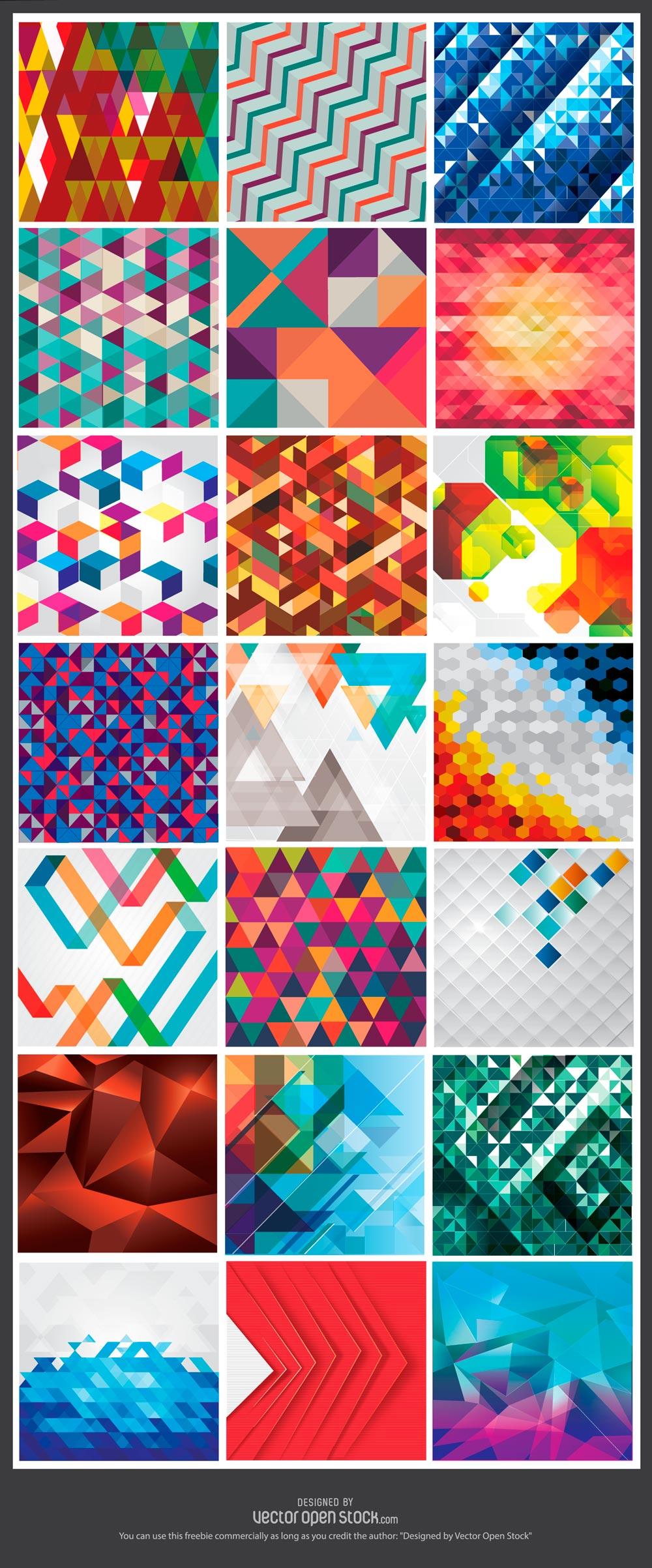GeometricBackgroundFreebie
