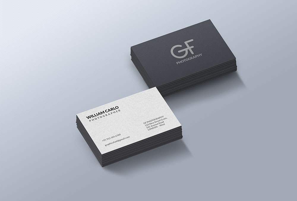 Free Business Card Mockup PSD - GraphicsFuel