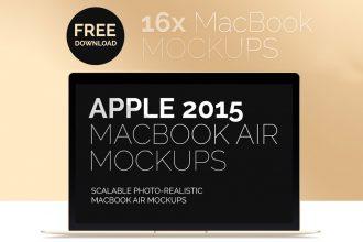 New MacBook Air 2015 Free Mockups