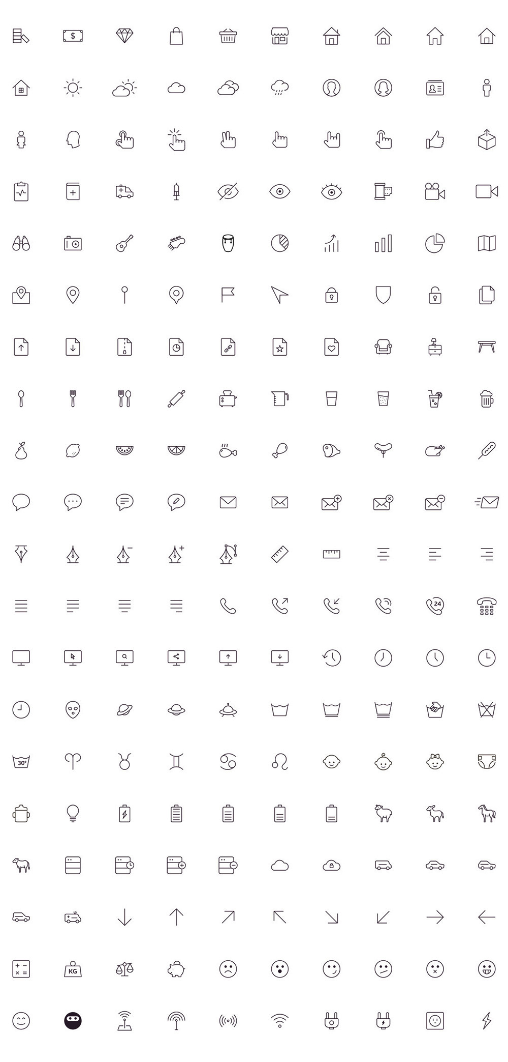 200-free-outline-stroke-icons