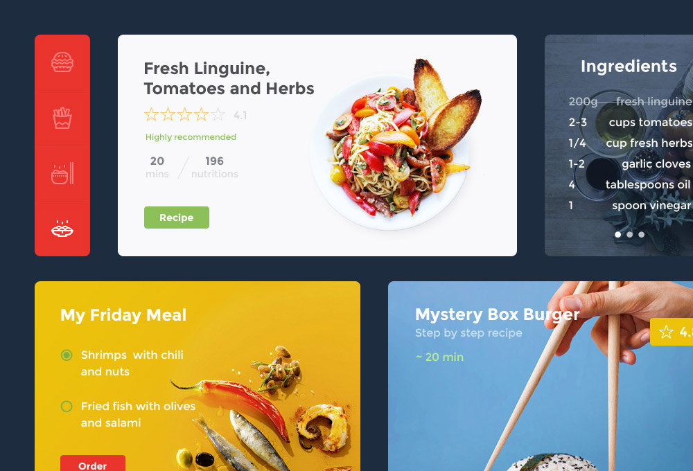 Food & Drink Free UI Kit