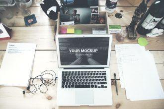 Macbook Air PSD Mockups
