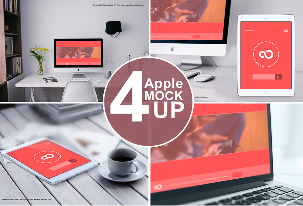 Apple Devices Mockup PSD