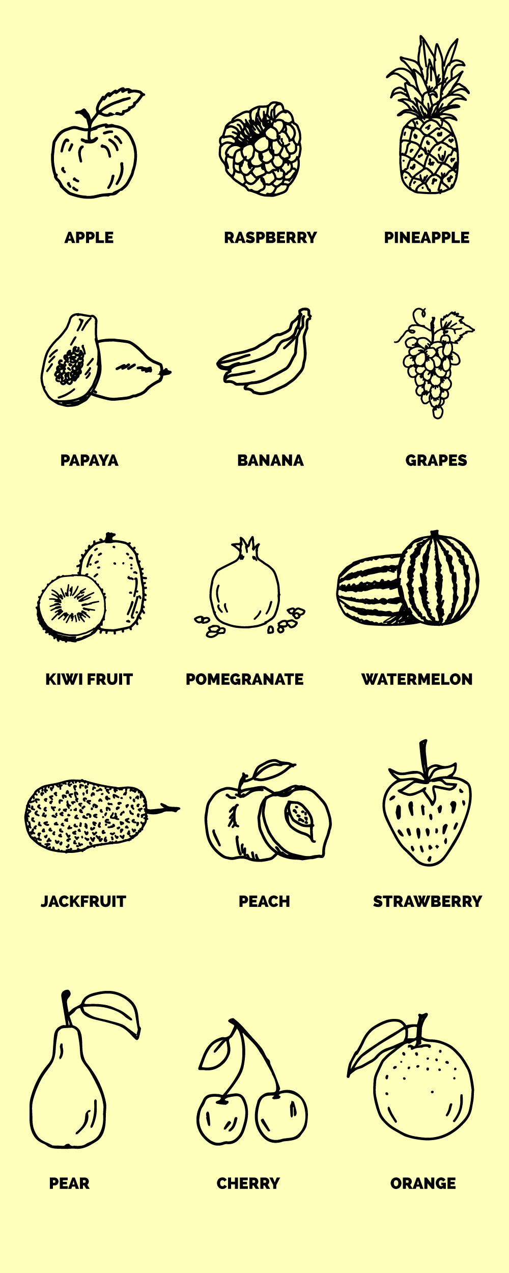 Hand-drawn Free Fruit Vectors