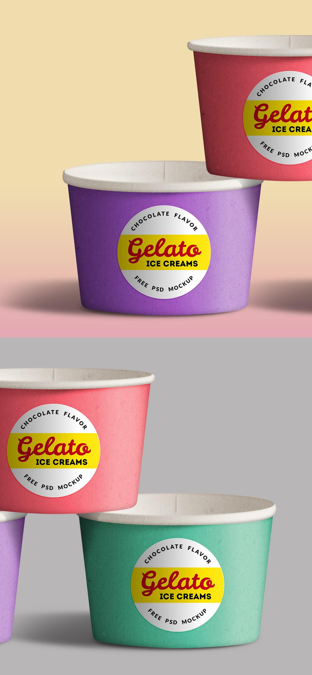 Ice Cream Cups PSD