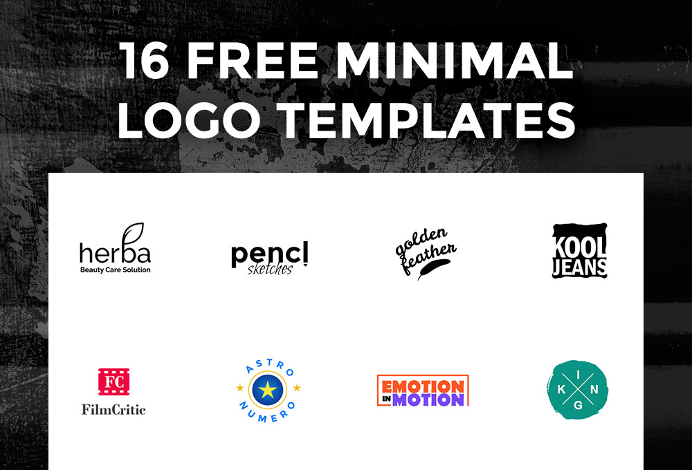 16 free logo templates graphicsfuel for Free logo templates