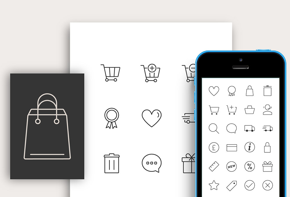 90 Free Responsive Ecommerce Icons