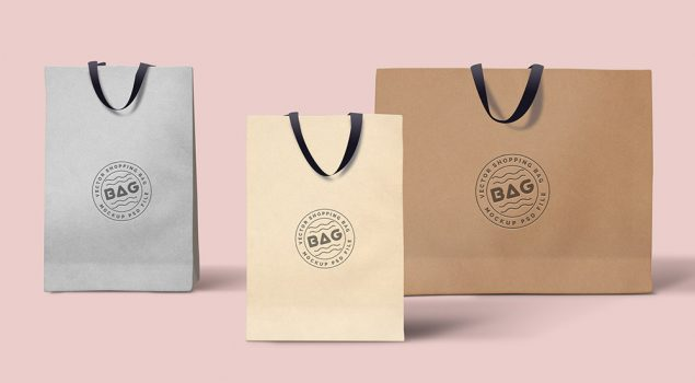 Shopping Bags PSD Template