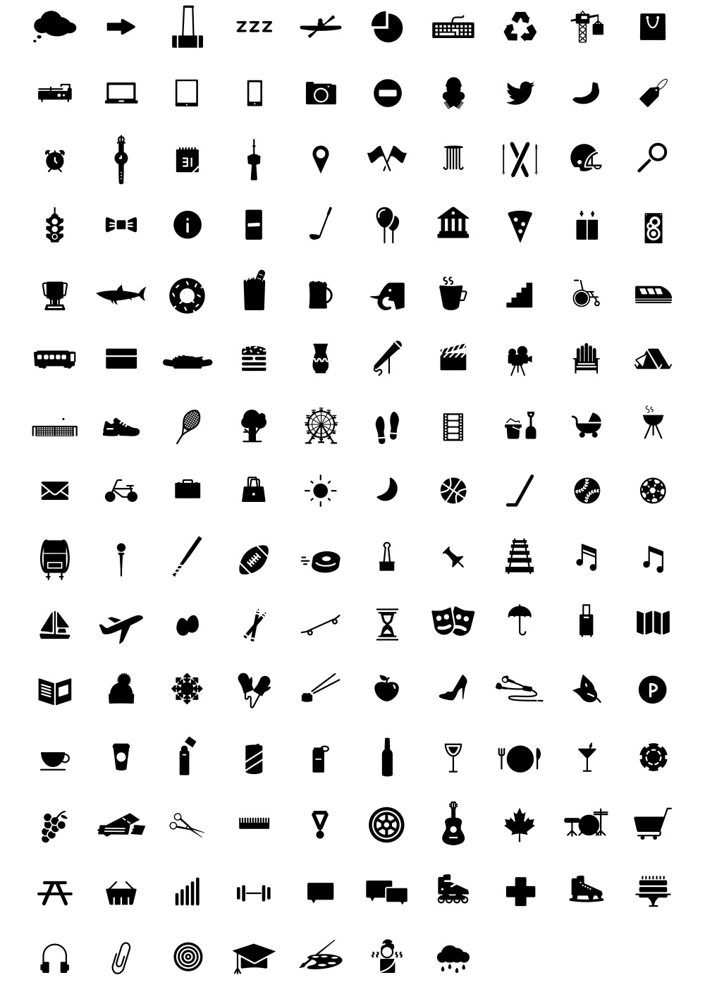 140 Free Icons