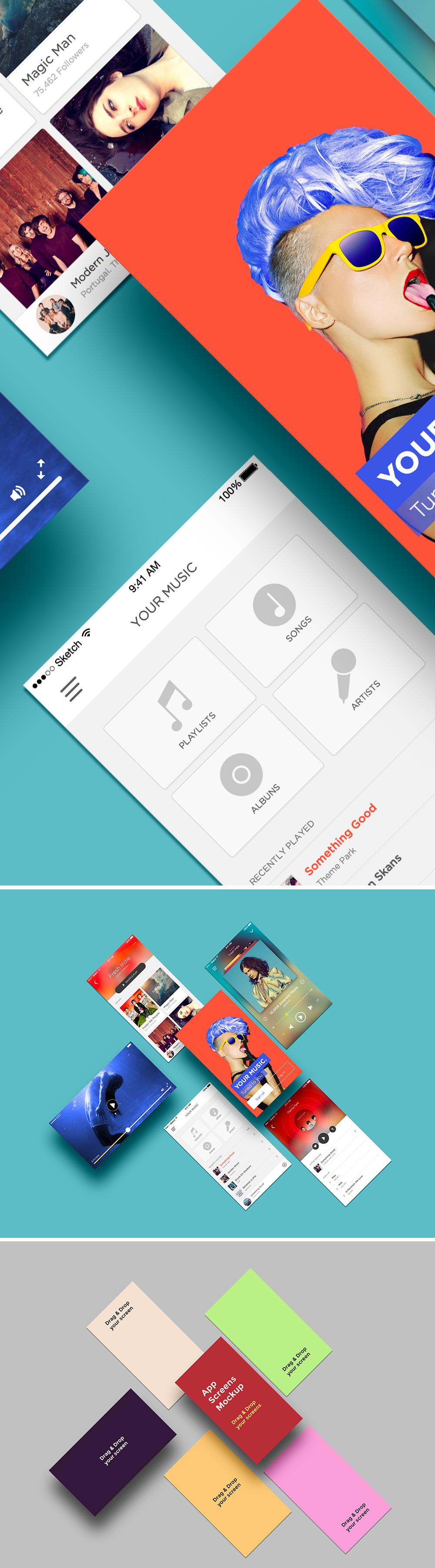App Screens Mockup