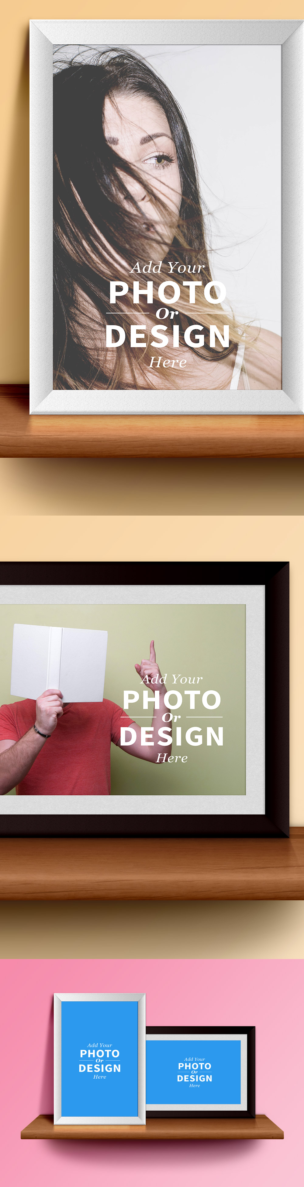 Photo Frames & Shelf PSD