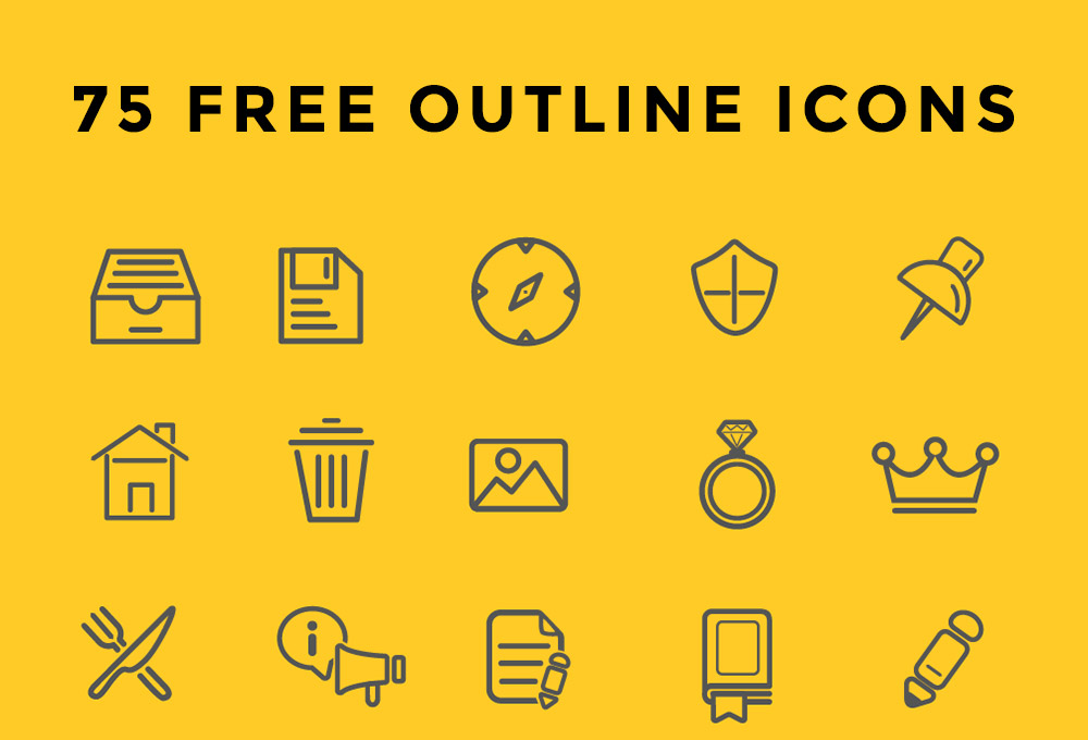 75 Free Outline Icons