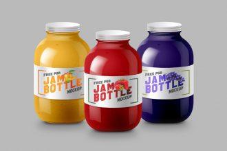 Jam Bottle Mockup PSD