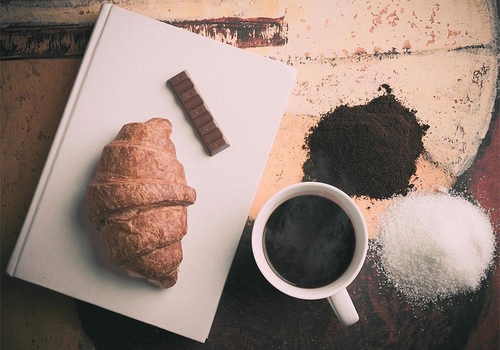 Cafe Book Doughnut Chocolate