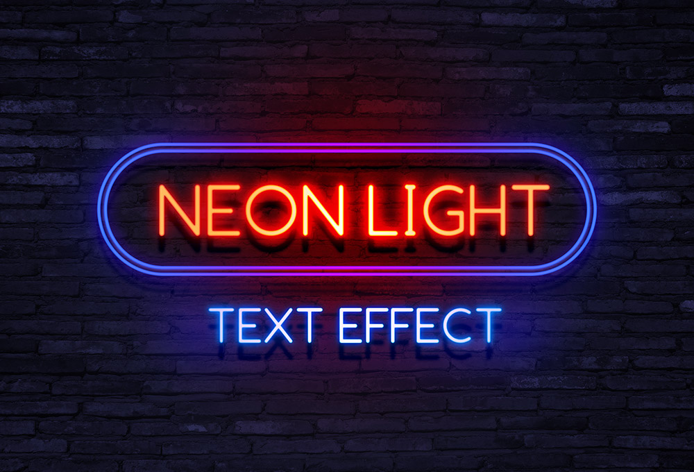 Neon light text effect graphicsfuel thecheapjerseys Gallery
