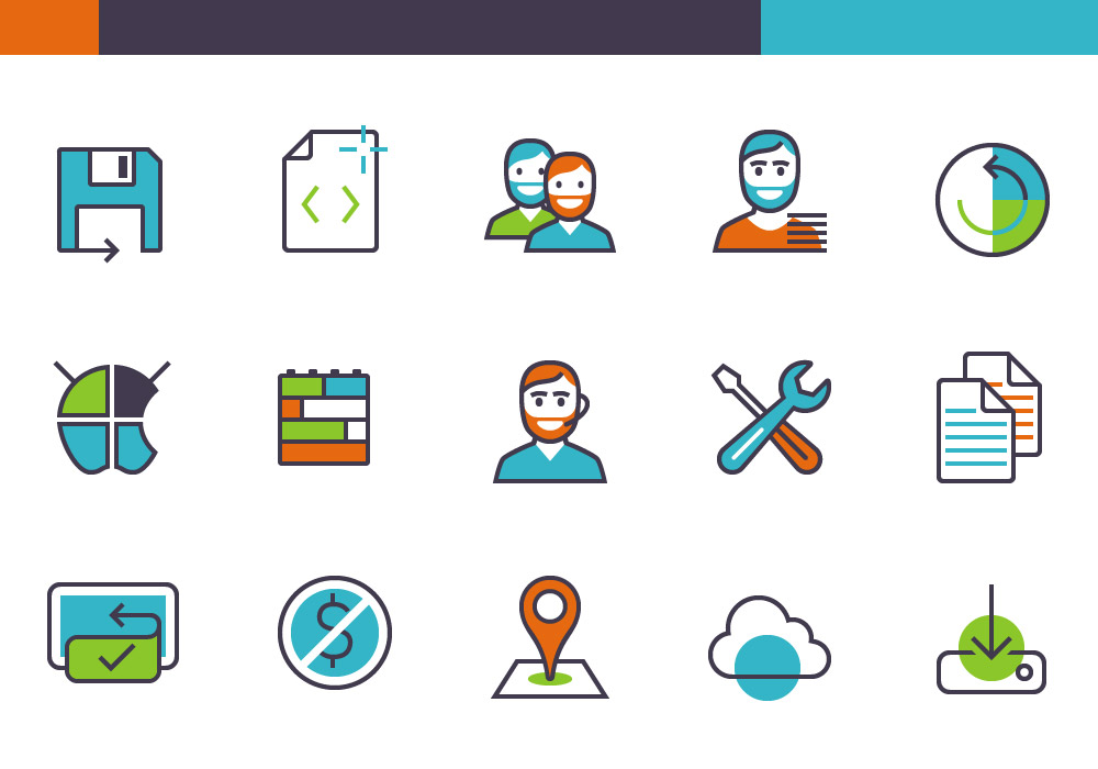 Apps And Products Features Free Icon Set