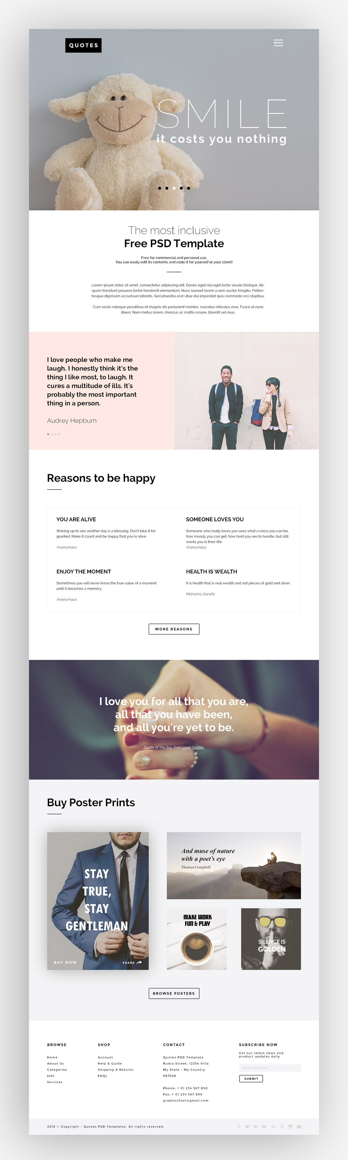 Quotes: Web Template PSD